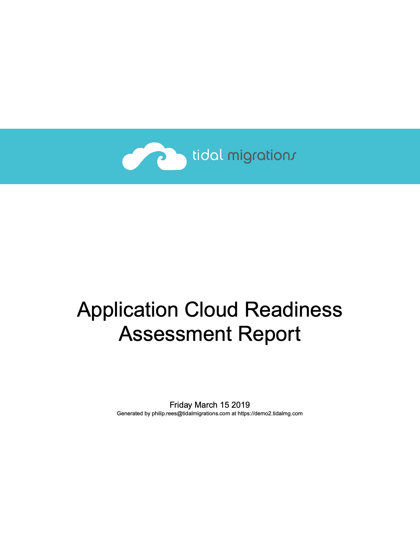 Cloud Application Readiness Assessment Report